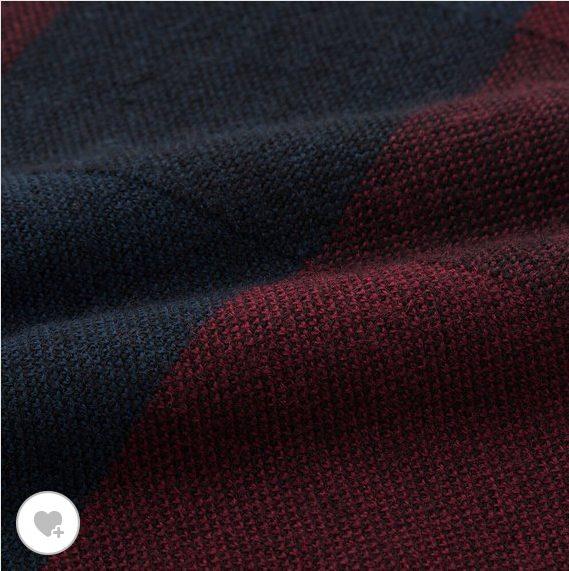 ユニクロUチェッククルーネックセーターの素材HP画像