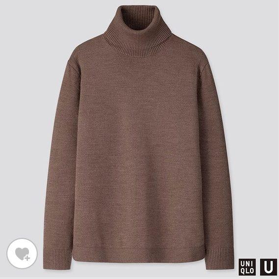 ユニクロUメリノブレンドタートルネックセーターのHP画像
