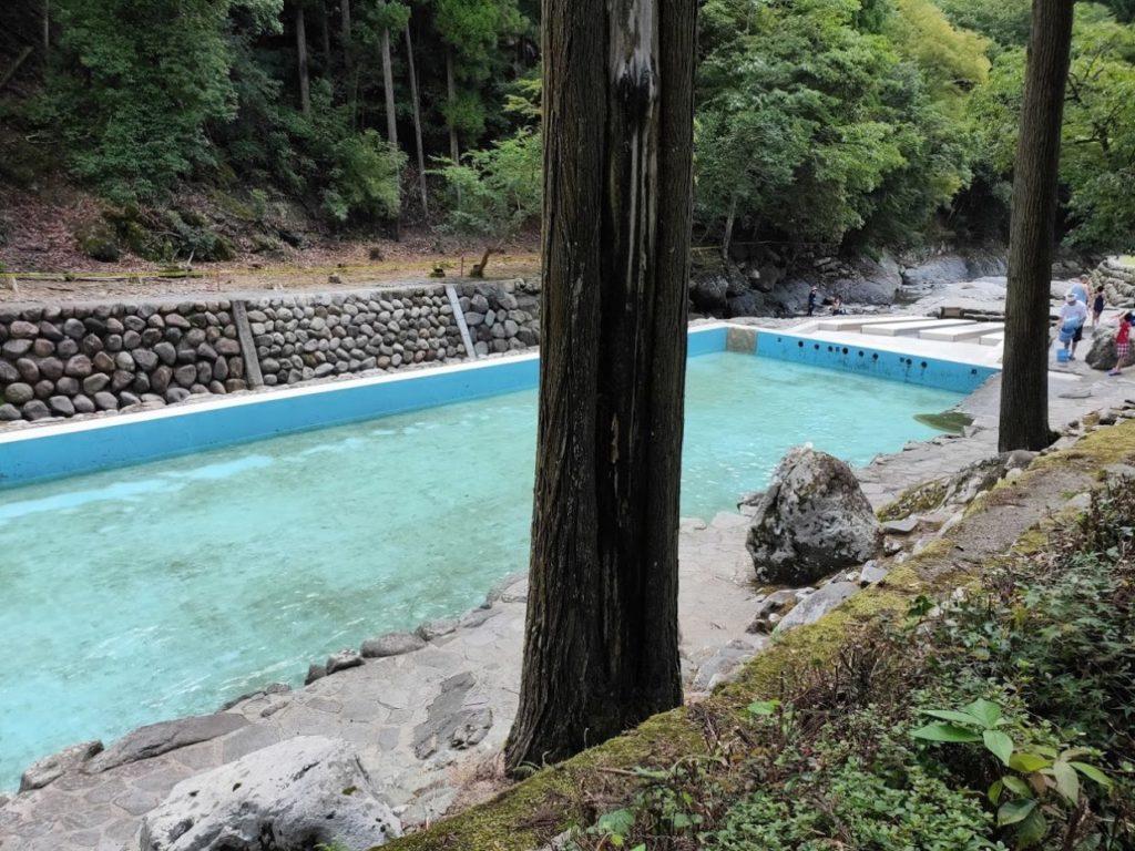 日田市小野川自然プールの水を入れる前