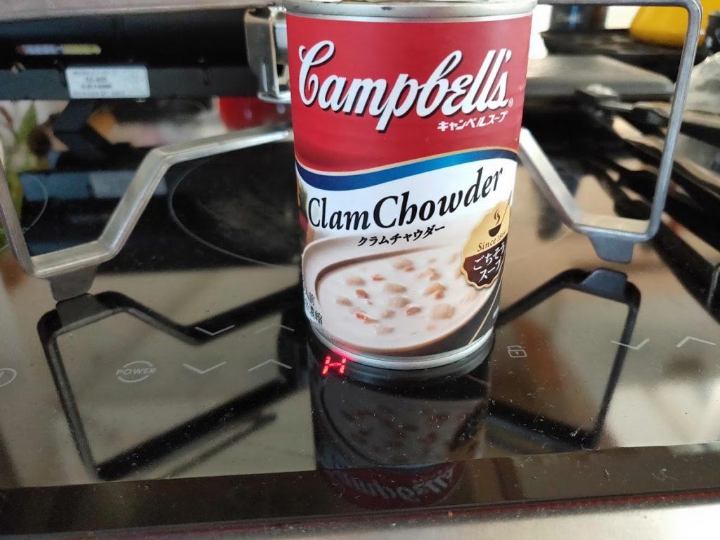キャンベルクラムチャウダー缶