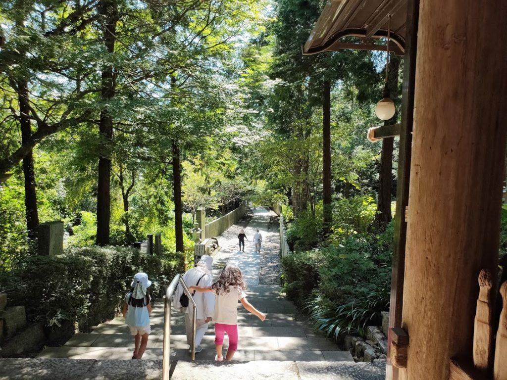 8番熊谷寺の戻る道