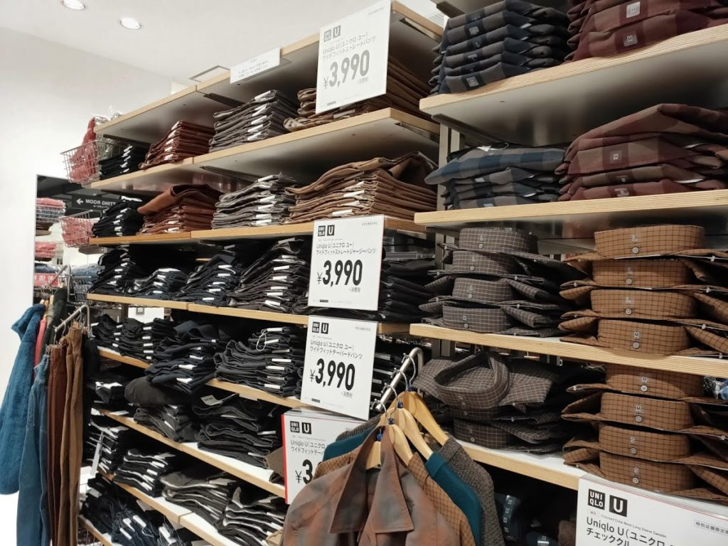 ユニクロUの店舗の商品