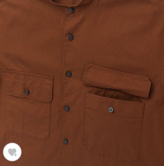ユニクロUワイドフィットスタンドカラーシャツのHP素材