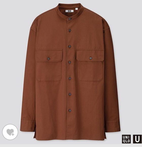 ユニクロUワイドフィットスタンドカラーシャツのHP画像