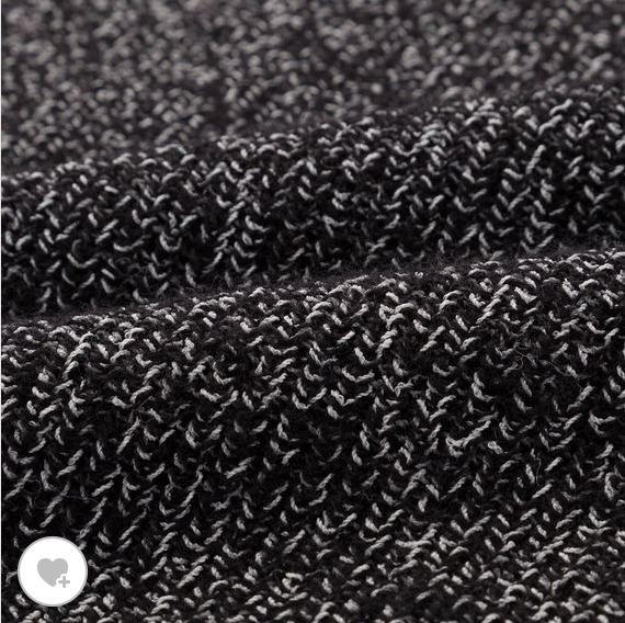 ユニクロUメランジVネックセーター素材