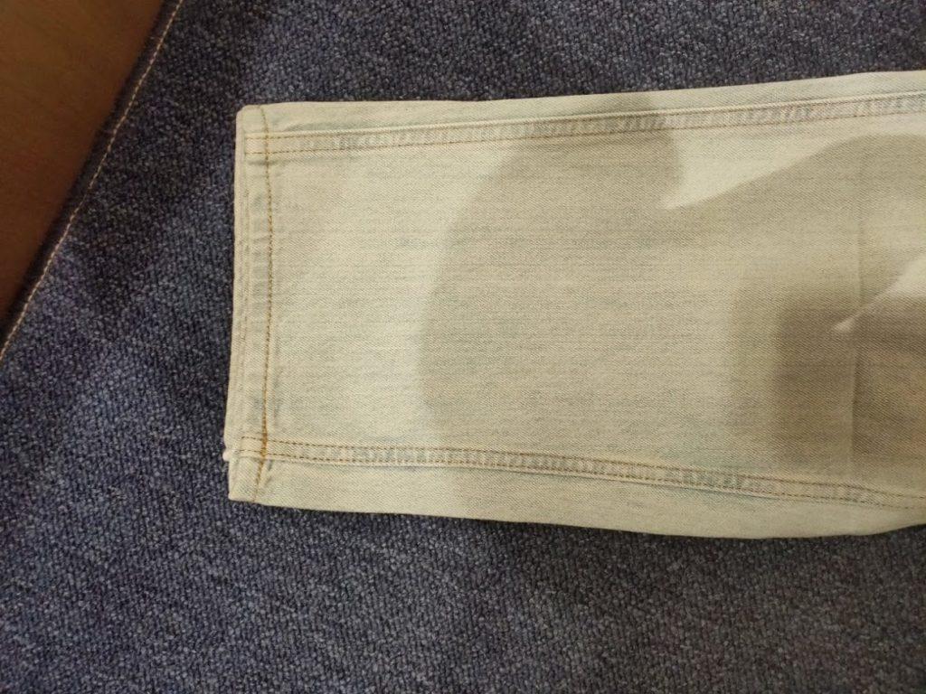 ユニクロUワイドフィットテーパードジーンズの裾