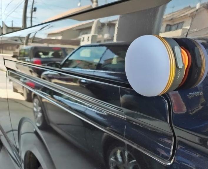 LEDランタン磁石車の横ボディー