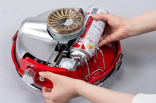 アラジンストーブのガス缶