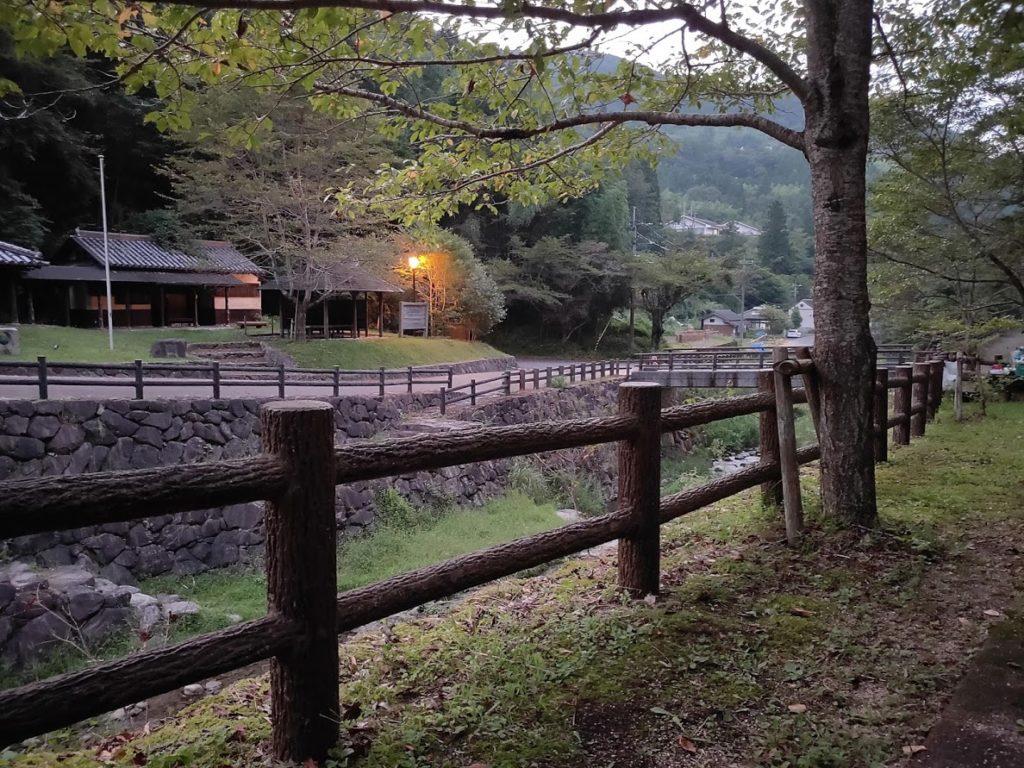 奥の湯公園キャンプ場の夕方の景色
