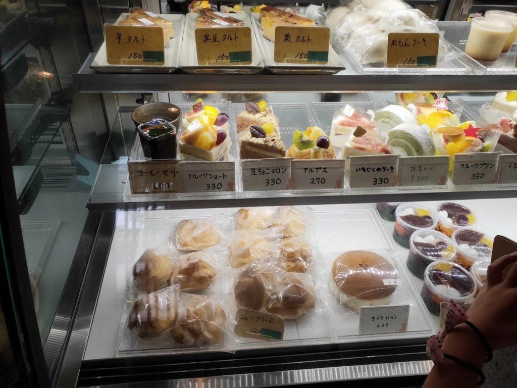 白栄堂のケーキメニュー1