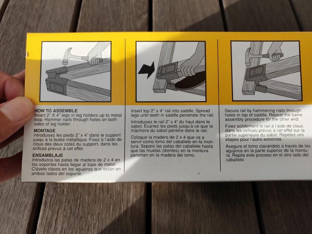 ソーホースブラケットの説明