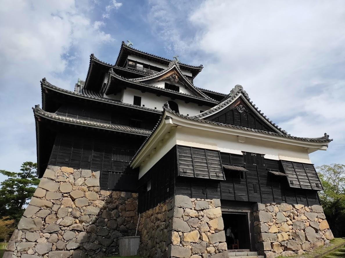 松江城のアップ画像