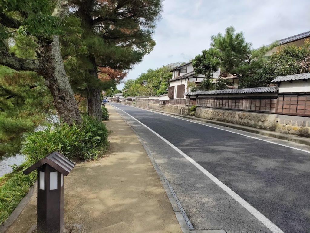 松江城の周辺道路