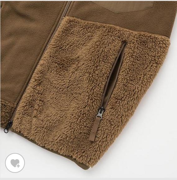 エンジニアドガーメンツフリースジャケットの素材