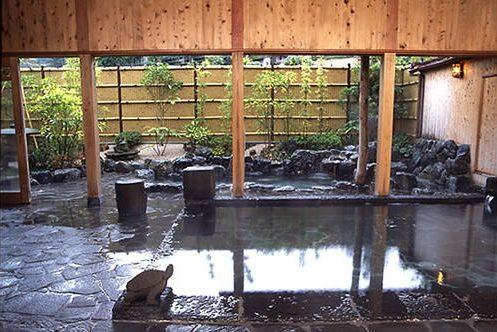 きまち湯地村の大森の湯の岩風呂