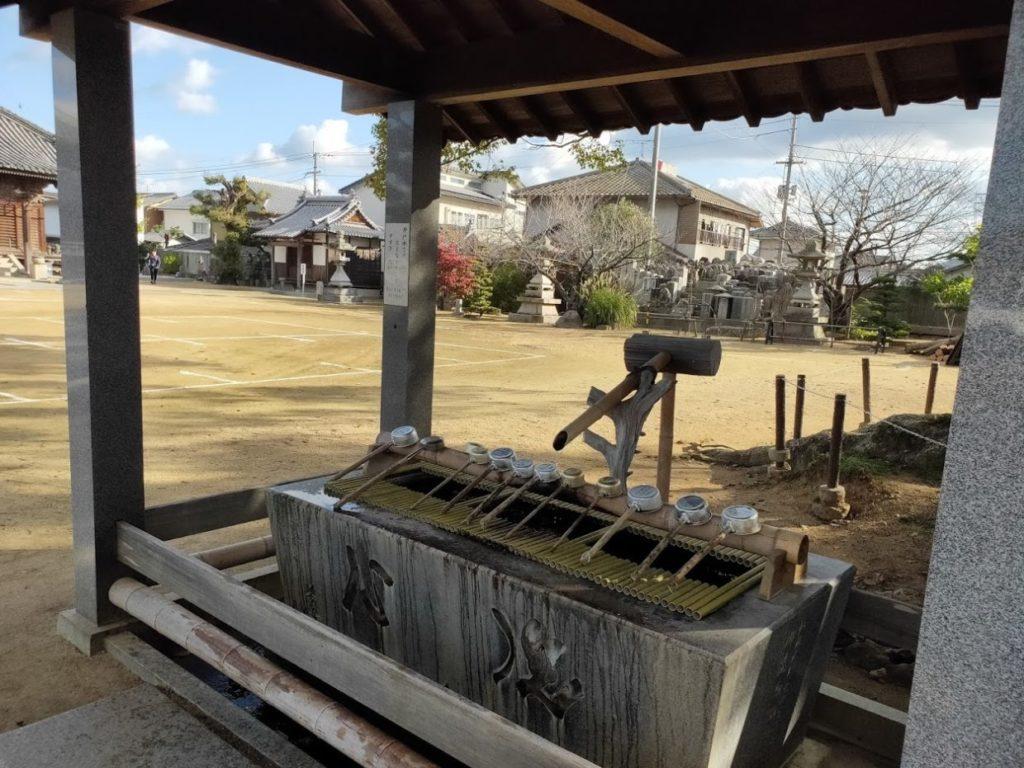 87番長尾寺の手水場