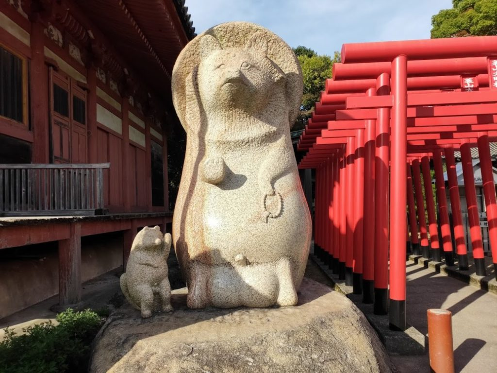 84番屋島寺のたぬき