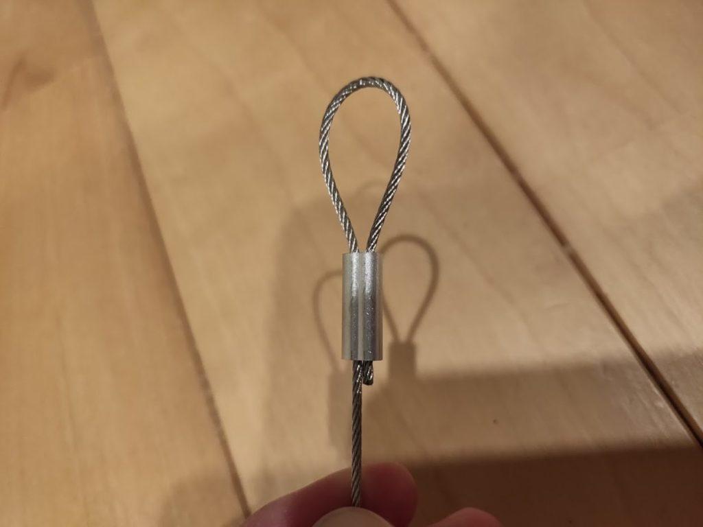 ワイヤーロープ物干しDIYのワイヤーリング
