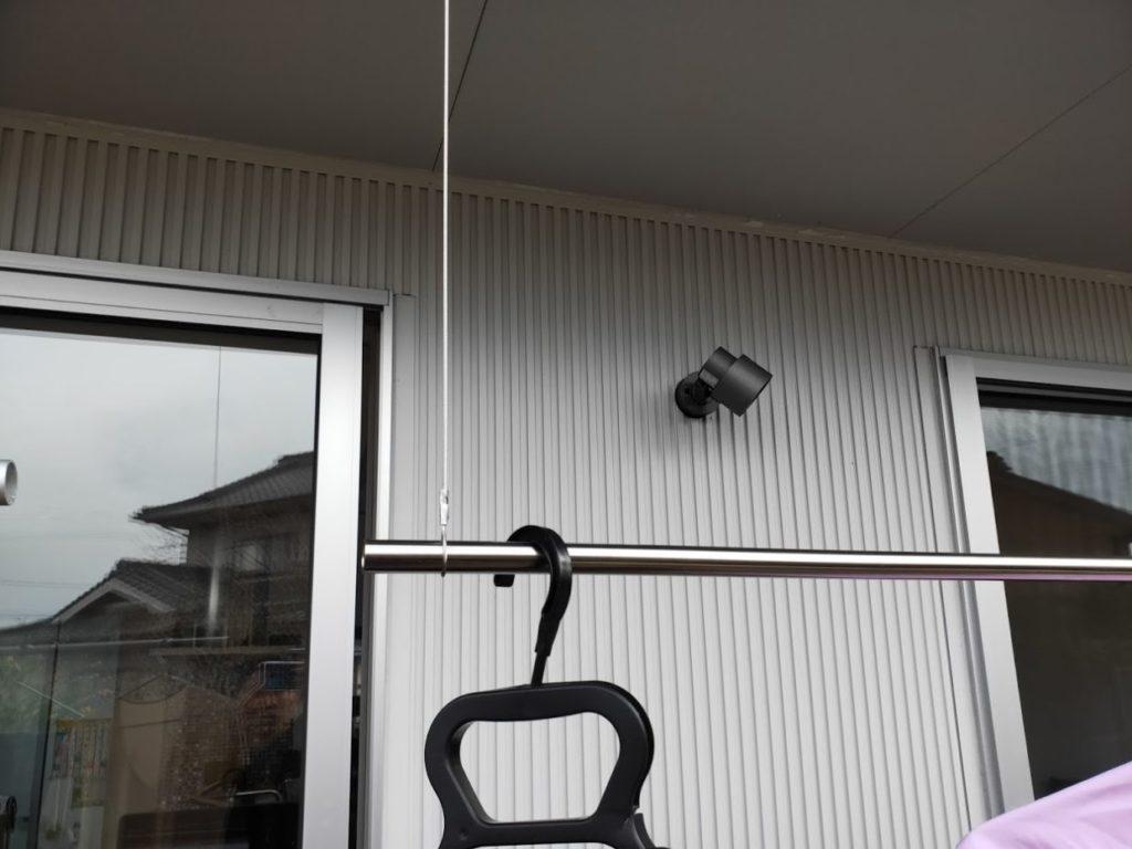 ワイヤーロープ物干しDIYのステンレスパイプ2