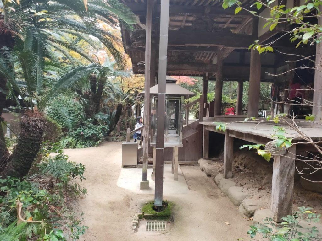 46番浄瑠璃寺の本堂と子ども