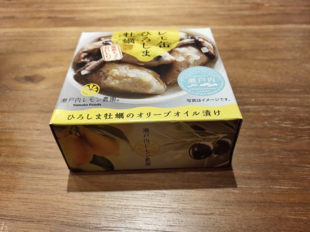 レモン缶ひろしま牡蠣のパッケージ
