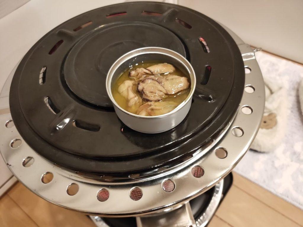 レモン缶ひろしま牡蠣の缶調理