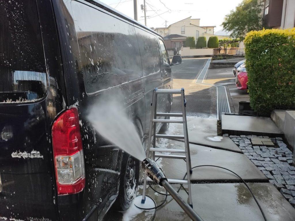 ケルヒャーK3サイレントで洗車
