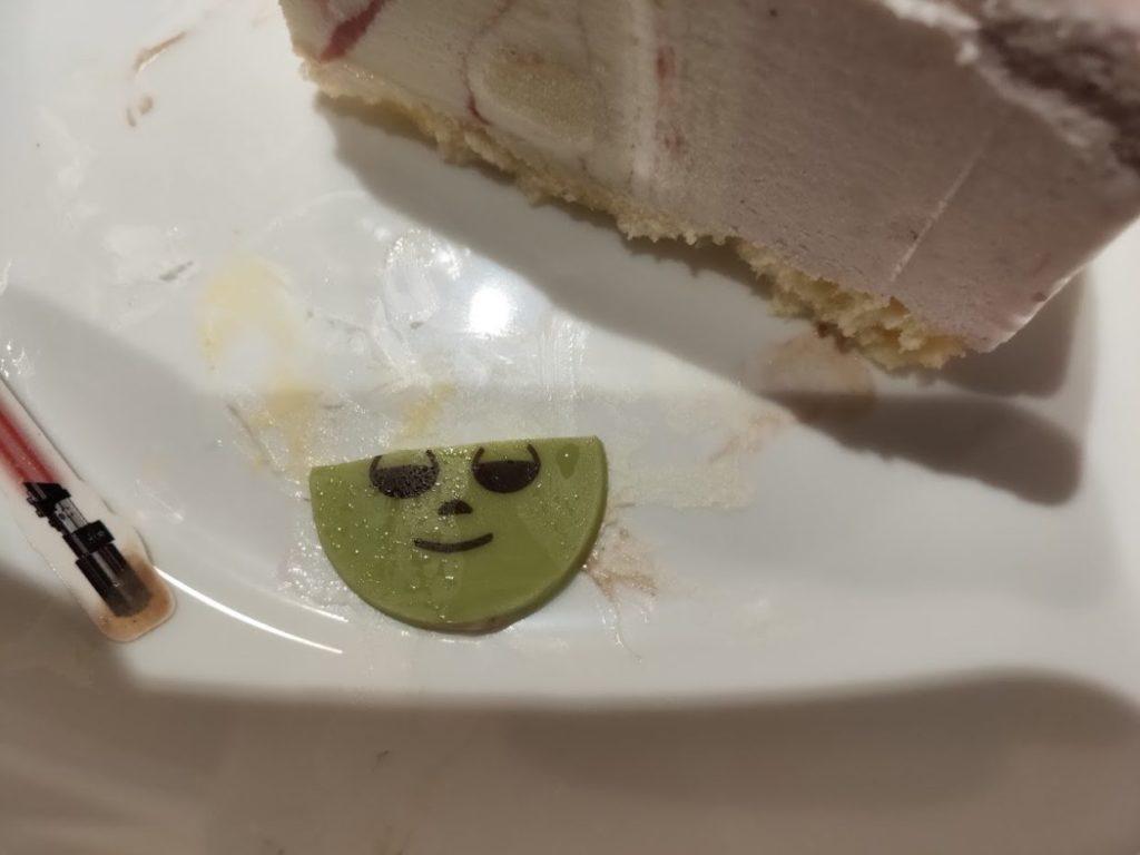 サーティーワンスターウォーズケーキのヨーダカット