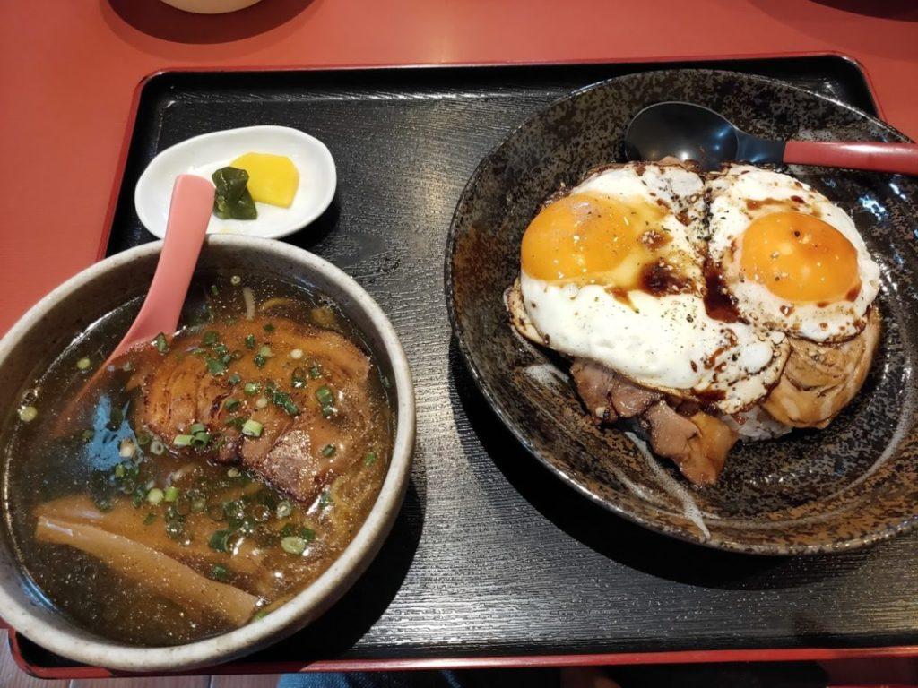 菜めんの玉子飯とラーメン1