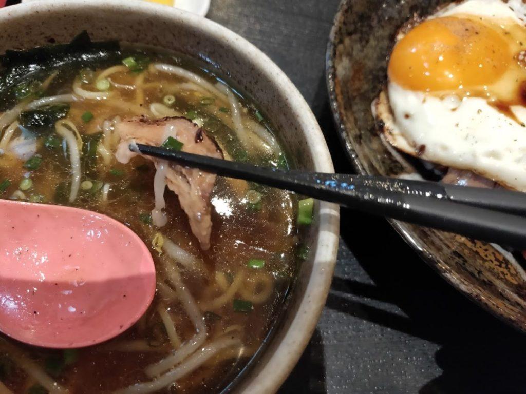 菜めんの玉子飯とラーメン6