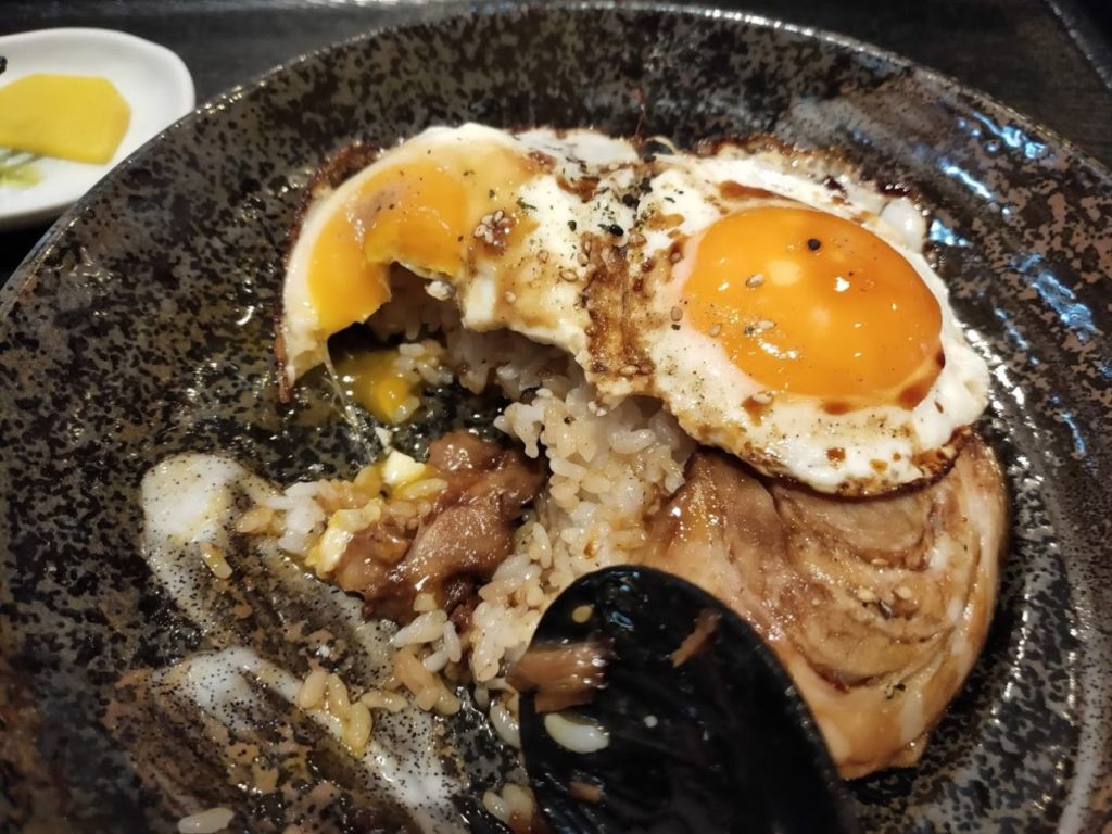 菜めんの玉子飯とラーメン7