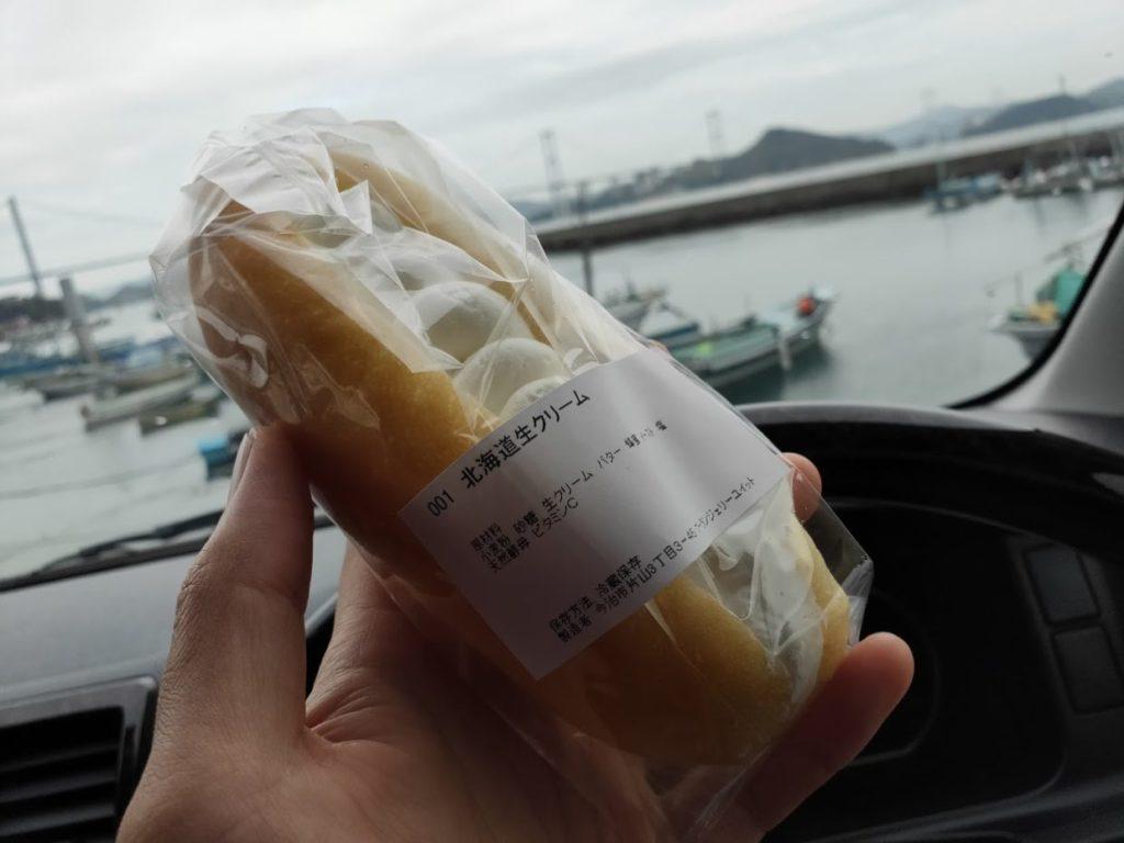 ブーランジェリーユイットの北海道生クリーム1
