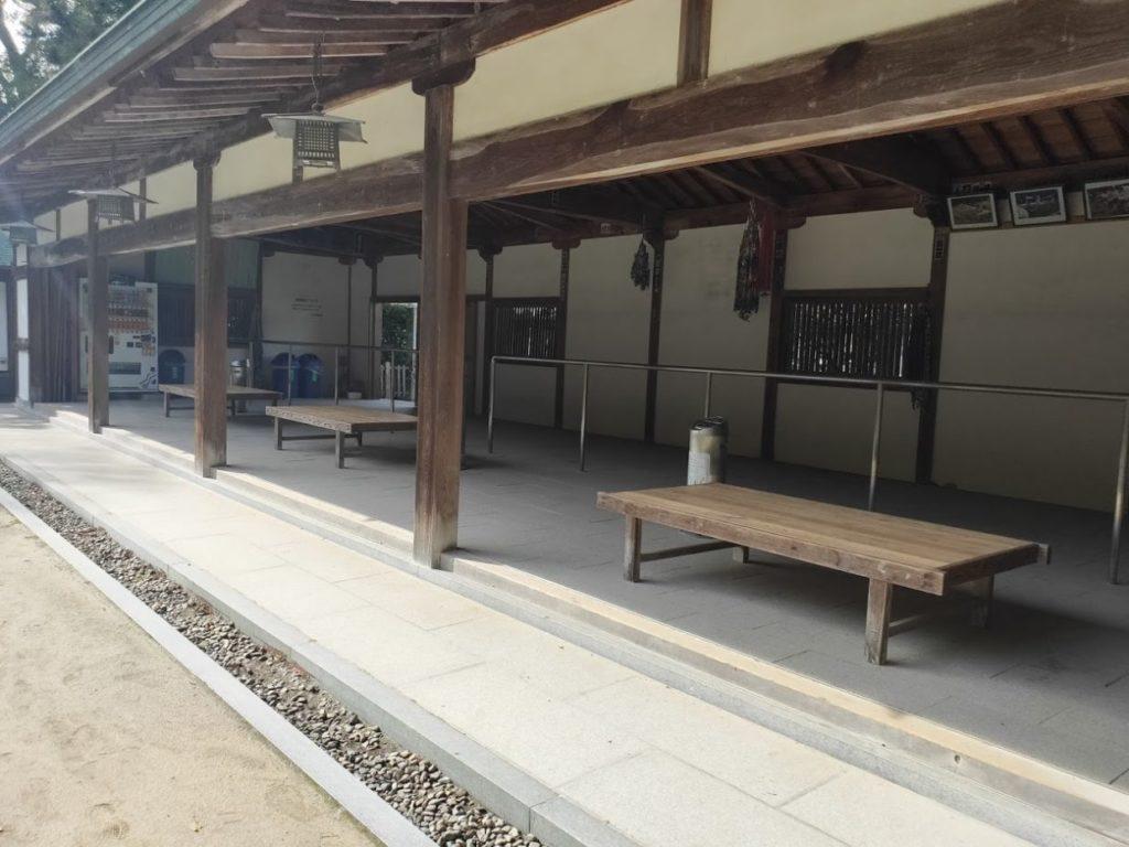 大山祇神社の駐輪場の様子