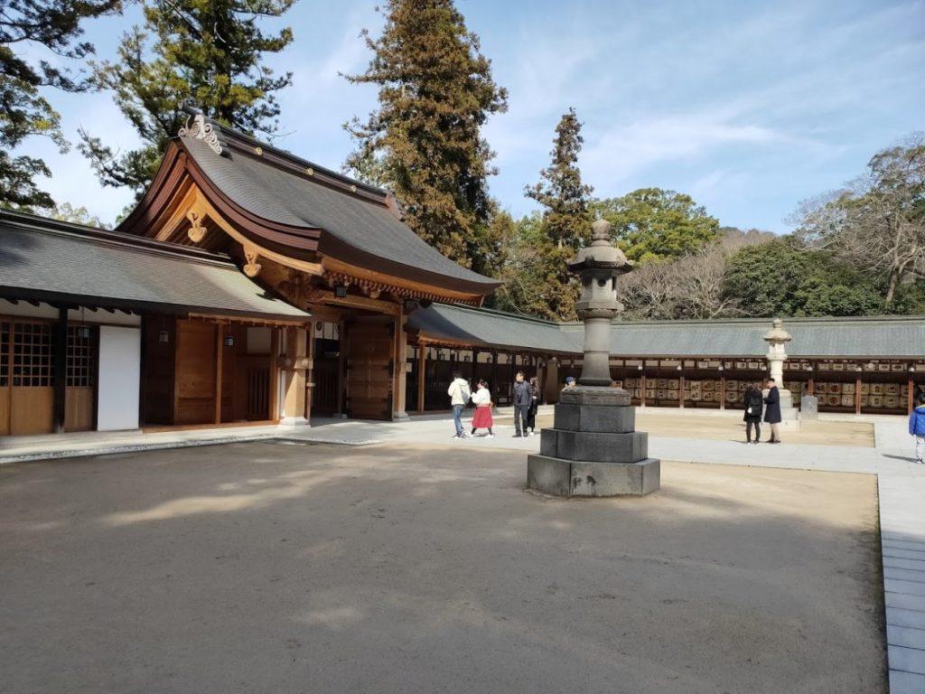 大山祇神社の境内の様子