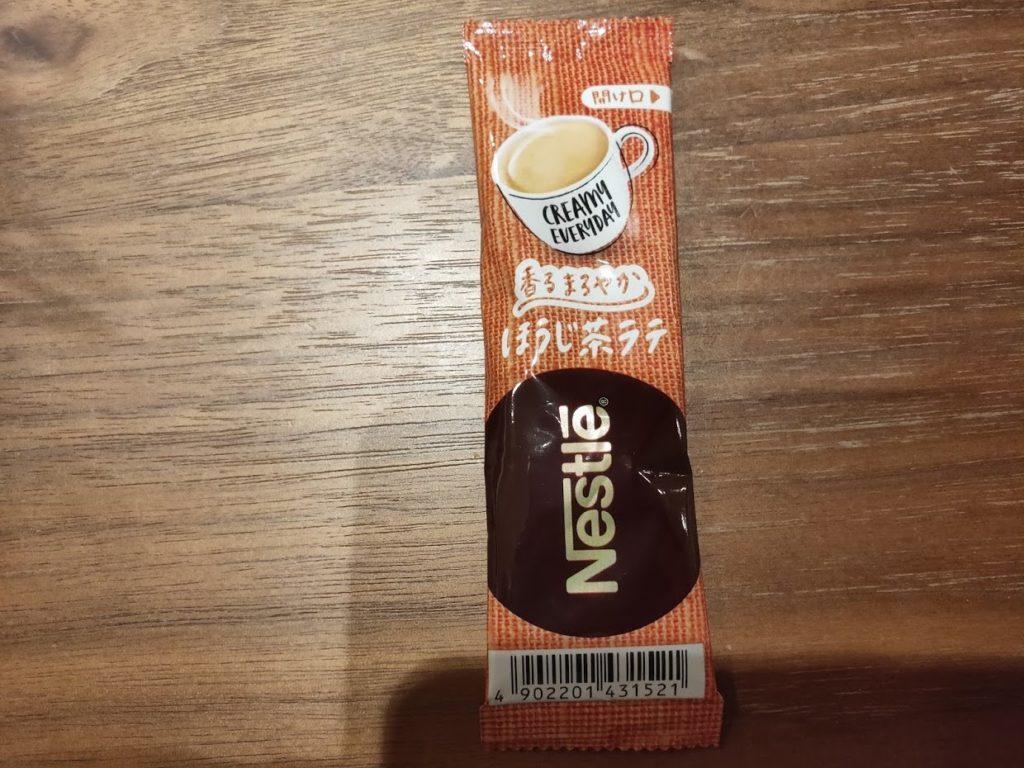 ネスレのほうじ茶ラテのパッケージ