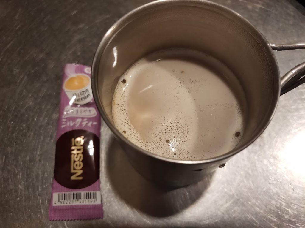 ネスレのミルクティーの完成
