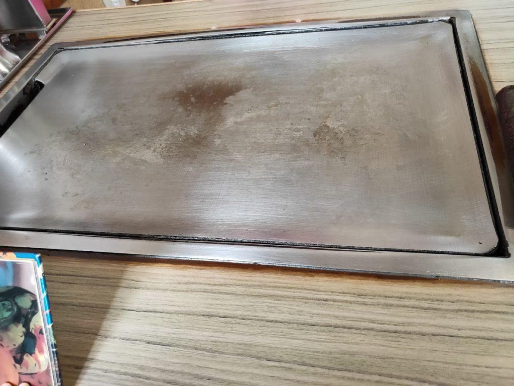 お好み焼き御幸の鉄板