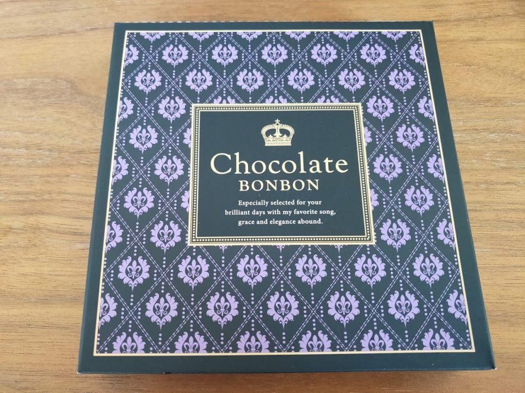 日本の酒チョコレートの中の箱