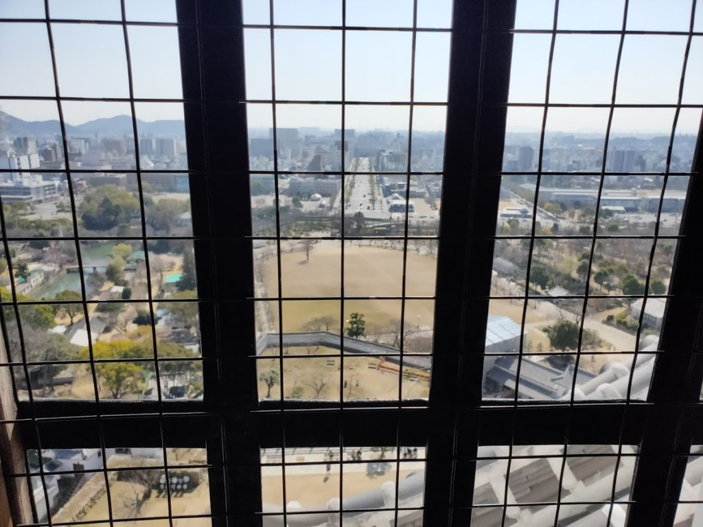 姫路城の上からの景色