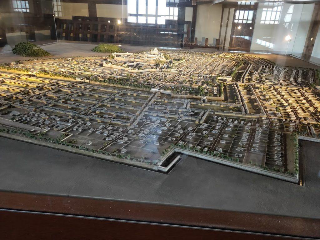 姫路城の街並み模型