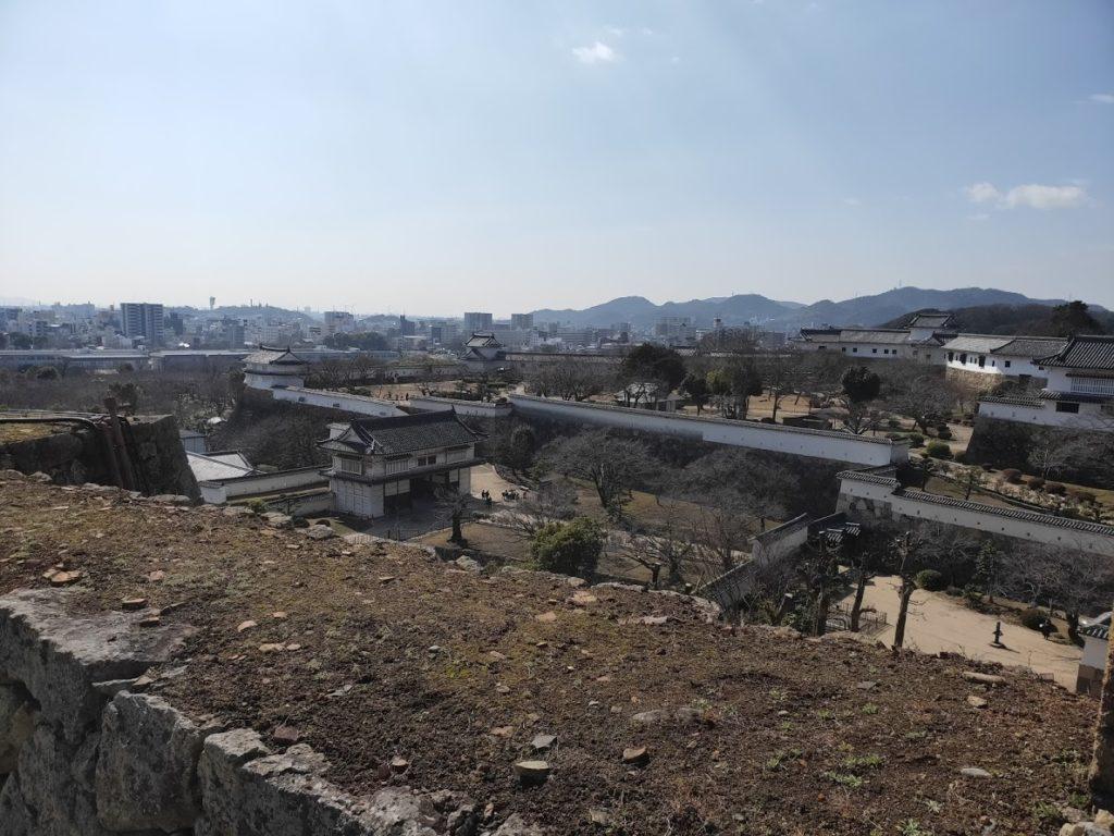 姫路城からの姫路の街の景色