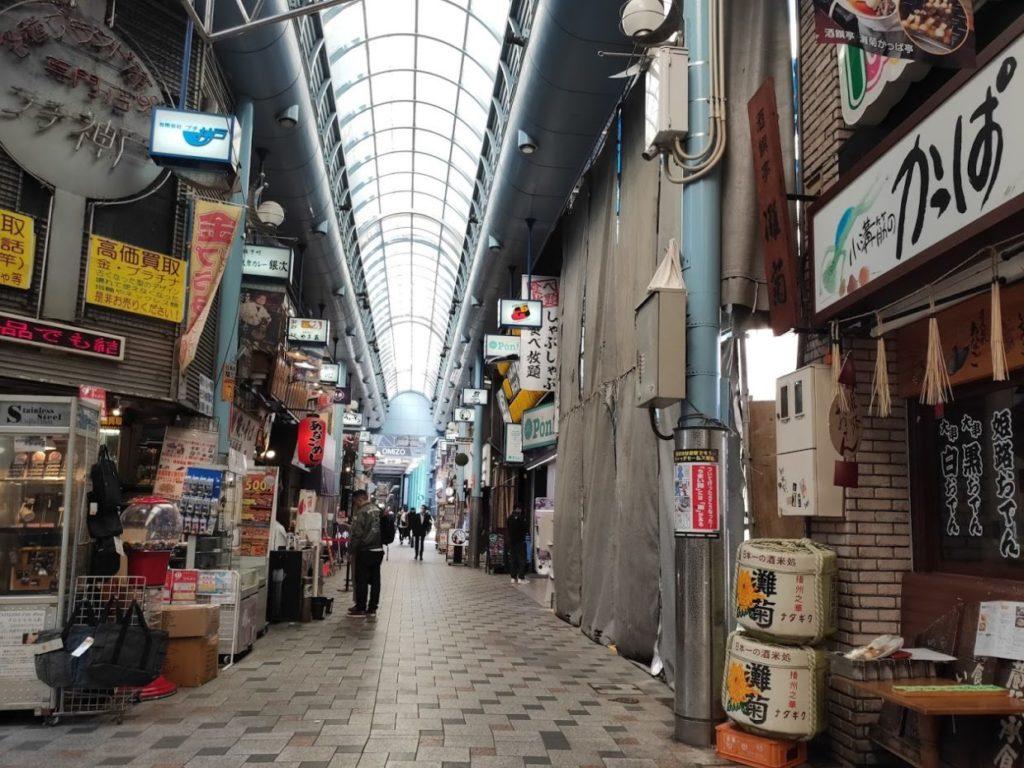 姫路の赤心の商店街