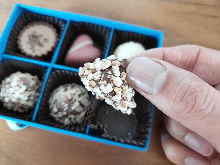 ラムールのチョコのナッツ