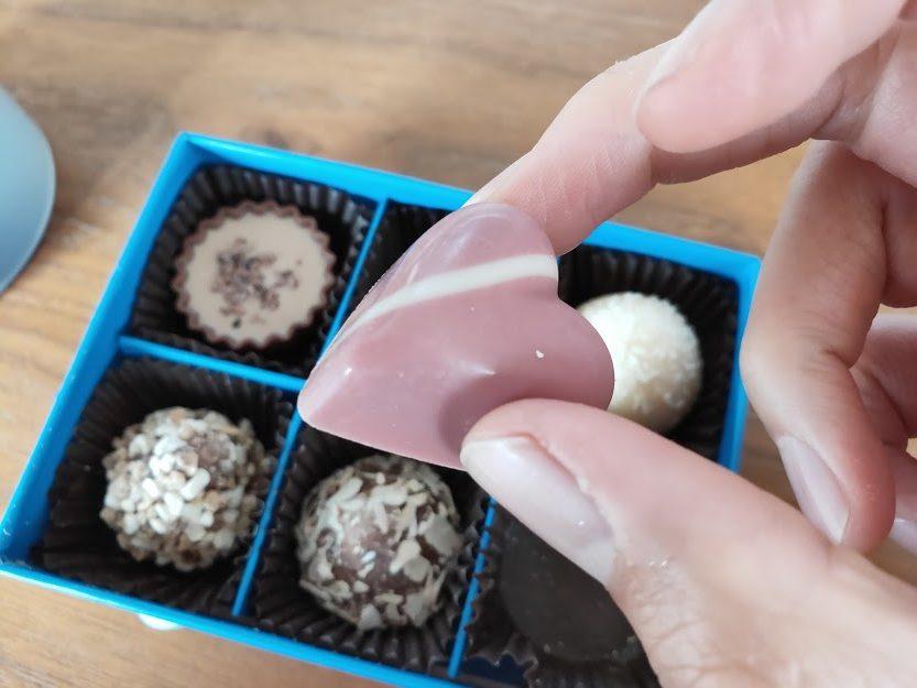 ラムールのチョコのハート