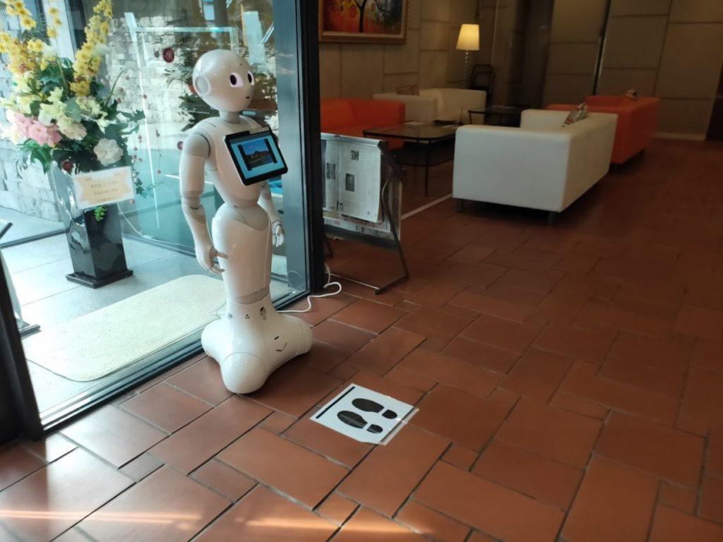 ヴィラ塩江のペッパーロボット