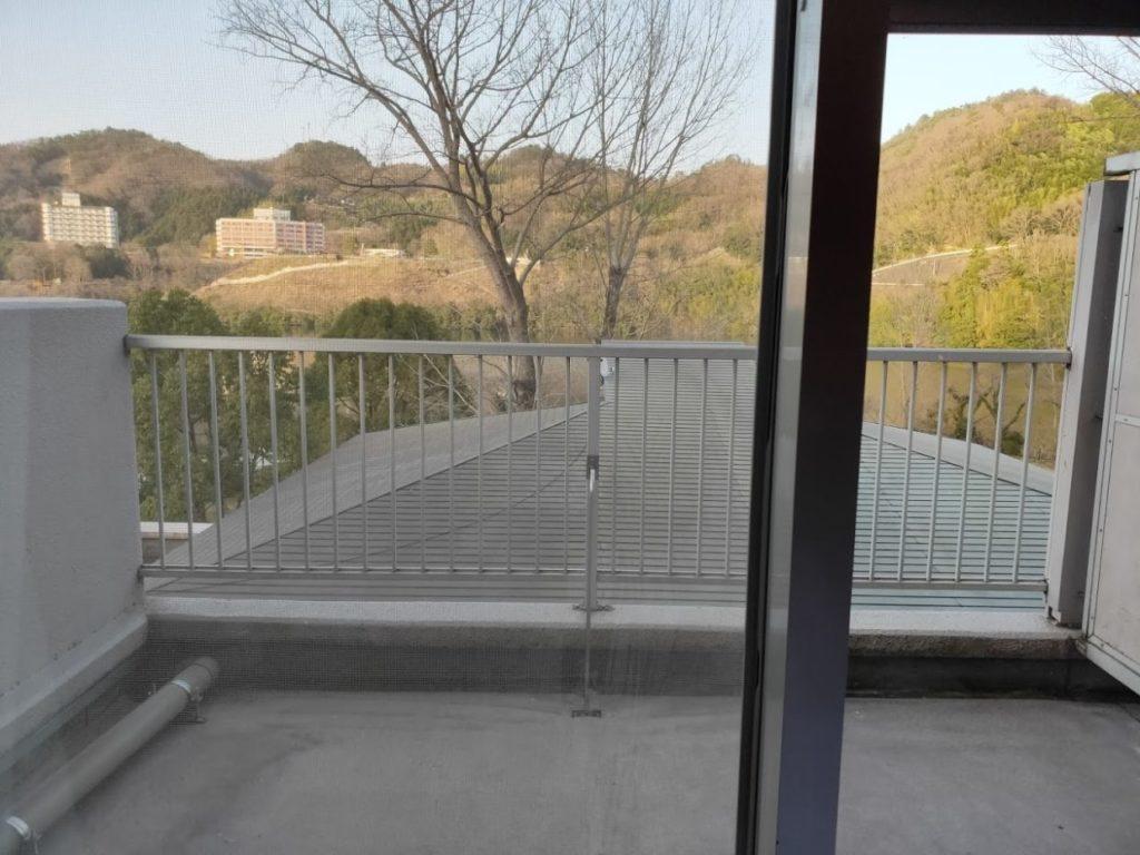 ヴィラ塩江の部屋の外の景色-