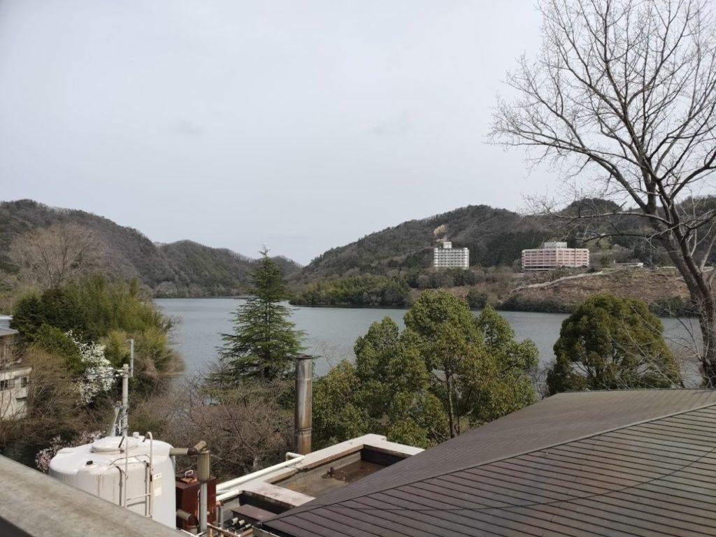ヴィラ塩江の部屋からの景色