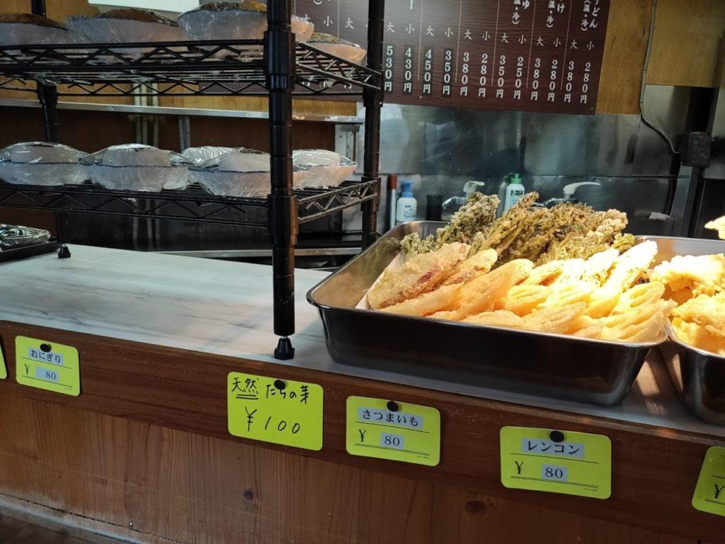 元祖鳥越製麺所の天ぷらの価格