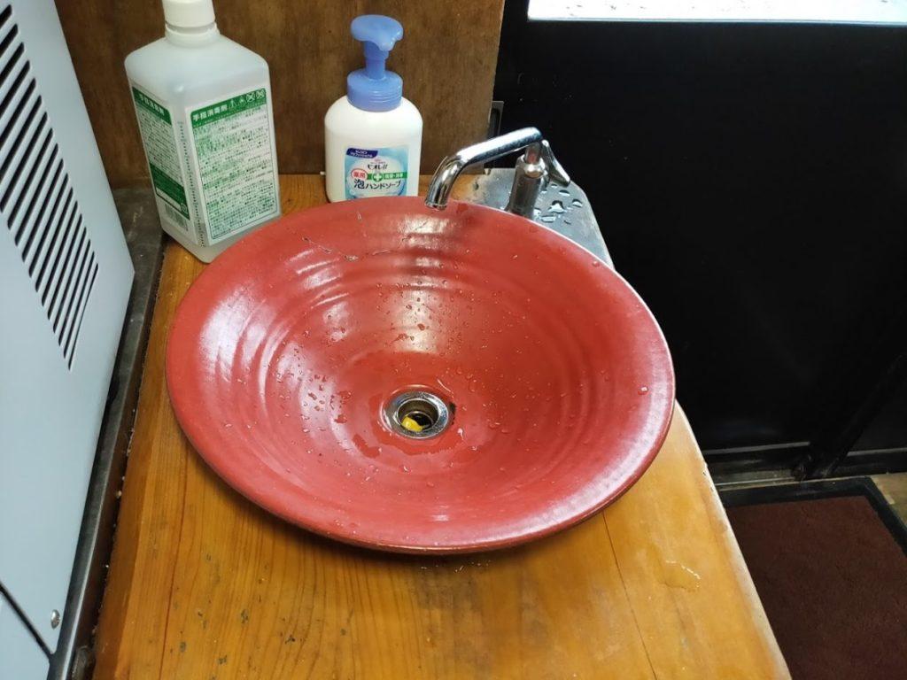 元祖鳥越製麺所の洗面所