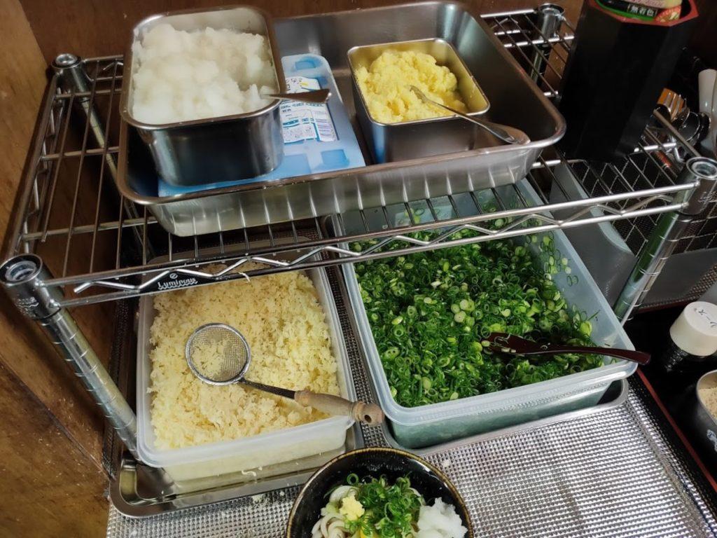 元祖鳥越製麺所のトッピング